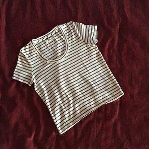 Madewell Striped Scoop Neck Top, Sz XS